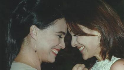 Foto de Regina Duarte e Gabriela Duarte, que vivem Helena e Maria Eduarda