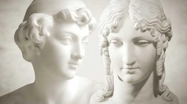foto ilustrativa de estátuas grega