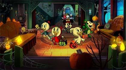 Foto de divulgação do filme Halloween com Mickey Mouse