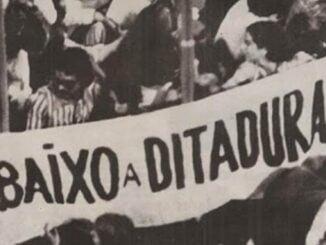 foto de manaifestação contra a ditadura